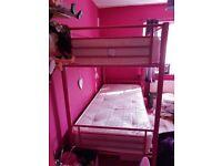 Pink bunk beds