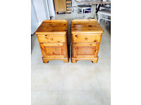 Ducal Pine Pair of Bedside Units