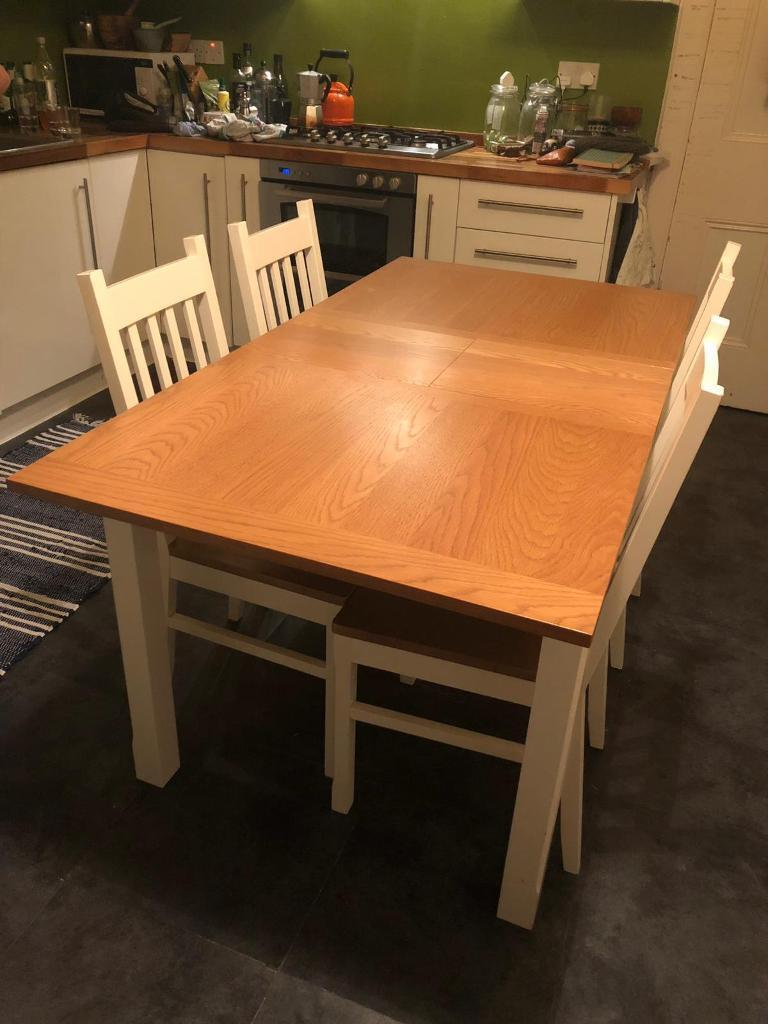 Homebase Chiltern Dining Table And 4 Chairs For Sale In Newport On Tay Fife Gumtree