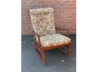Parker Knoll rocking chair with original covers excellent