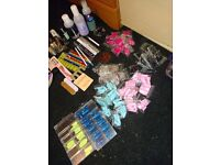 Job lot of acrylic nail tips all different colours and loads of accessories and polish