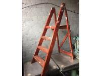vintage wooden ladders for shabby chic project or wedding venue decoration many sets available £20