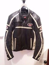 IXS full leather motorbike jacket. European size 52
