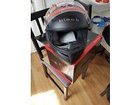 Black Flip Front Motorcycle Helmet size S