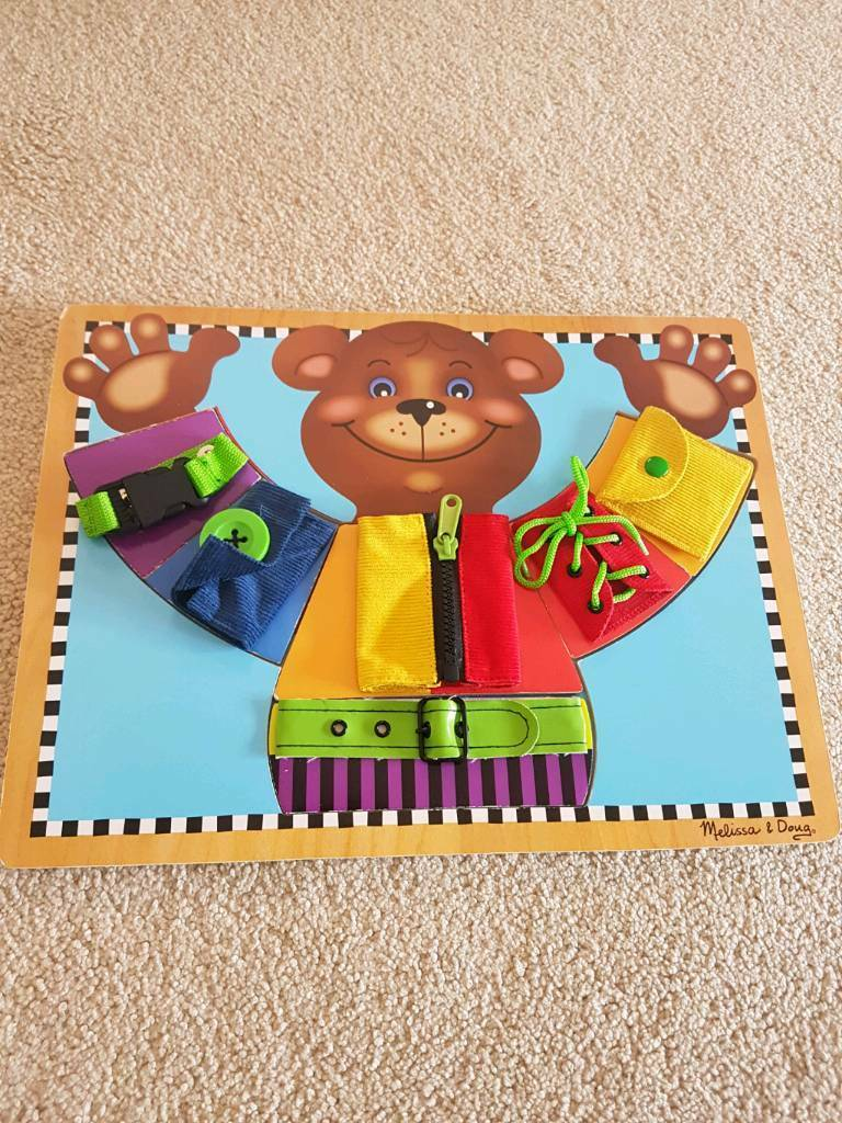 Melissa and Doug wooden skills board - excellent condition