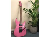 Squier by Fender - Showmaster 20th Anniversary Edition Pink Electric Guitar, Unique!