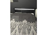 Double bed good condition . without mattress good
