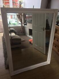 XL Shabby Chic white mirror