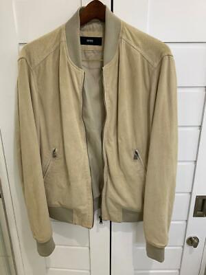 Hugo Boss Men 100% Leather Suede Mercedes Benz Moriso Leather Jacket 50/L £500