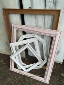 Wooden picture frames upcycle project