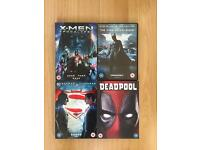 A Selection of Superhero DVD Movies