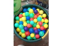 Colourful soft play balls