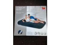 COMFORT Quest Easy inflatable flocked air bed / DOUBLE used once