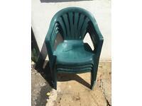*** 4x Plastic Garden Chairs (£10.00) ***