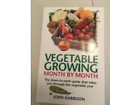 Vegetable Growing Month by Month by John Harrison book. Excellent Condition.