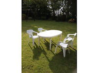 White uvpc Table & Chairs