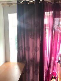Curtain and voile