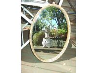 PRETTY ANTIQUE FRENCH GILT FRAMED MIRROR
