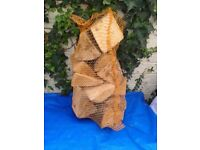 Nets Of Dry Seasoned Hardwood Tree Logs. £2.50.
