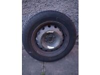 Michelin tyre 185/65/15. Good tread and comes with Rim. Originally from Citroen Picasso