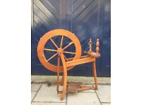Spinning Wheel with Wool & Accessories. Good Working Order.