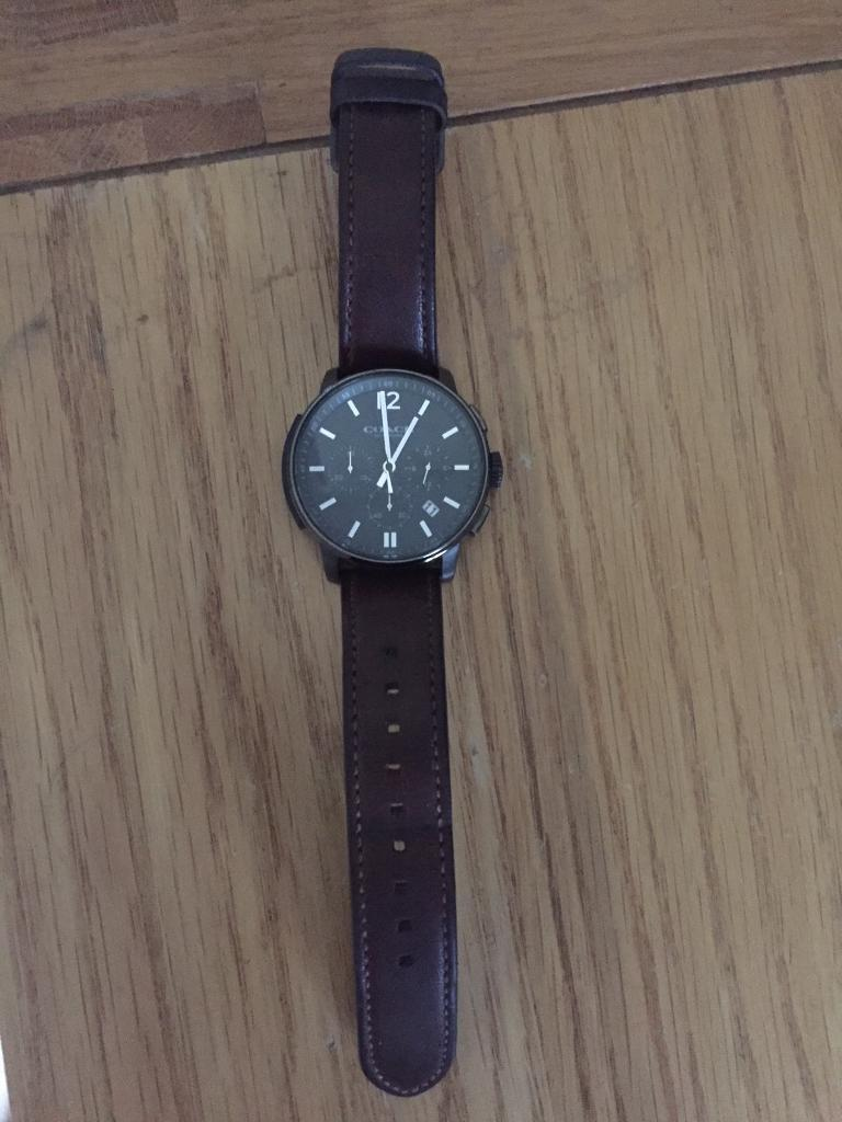 Men's COACH Watch *VGC~Brown Leather Strap*