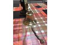 """Ships bell 6"""" heavy solid brass antique"""