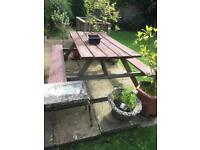 Picnic Garden Bench