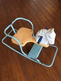 Antique Vintage Children's Tri-ang Rocking Horse Toy