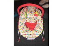 RedKite vibrating baby bouncer (hardly used)