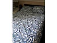 Double divan bed + headboard + orthopaedic mattress