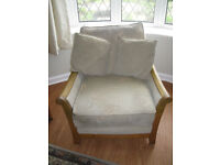 CINTIQUE MARLOWE 3 SEAT SETTEE AND TWO CHAIRS CLEAN SLIGHT MARKING OUT OF SIGHT