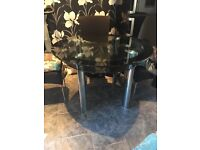 Glass round dining/kitchen table
