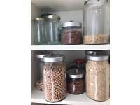 Glass storage and Kilmer jars