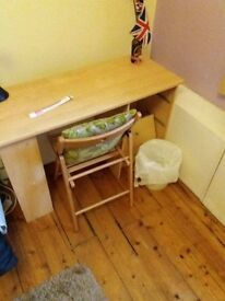 Real wood fold up desk chair