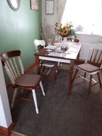 Shabby chic effect table & chairs