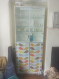 Billy bookcase cabinet with Orla Kiely doors