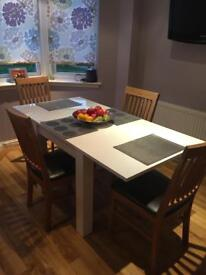 High gloss white Dining table