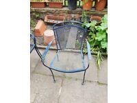 4 x Vintage steel garden patio outdoor chairs