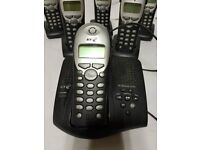 BT Diverse 5250 answering machine with 6 handsets and bases