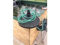 Koi pond retro bottom drain