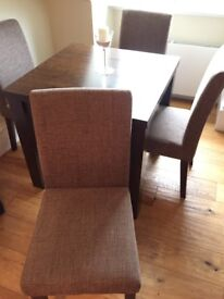 Next mango dining table & 4 chairs