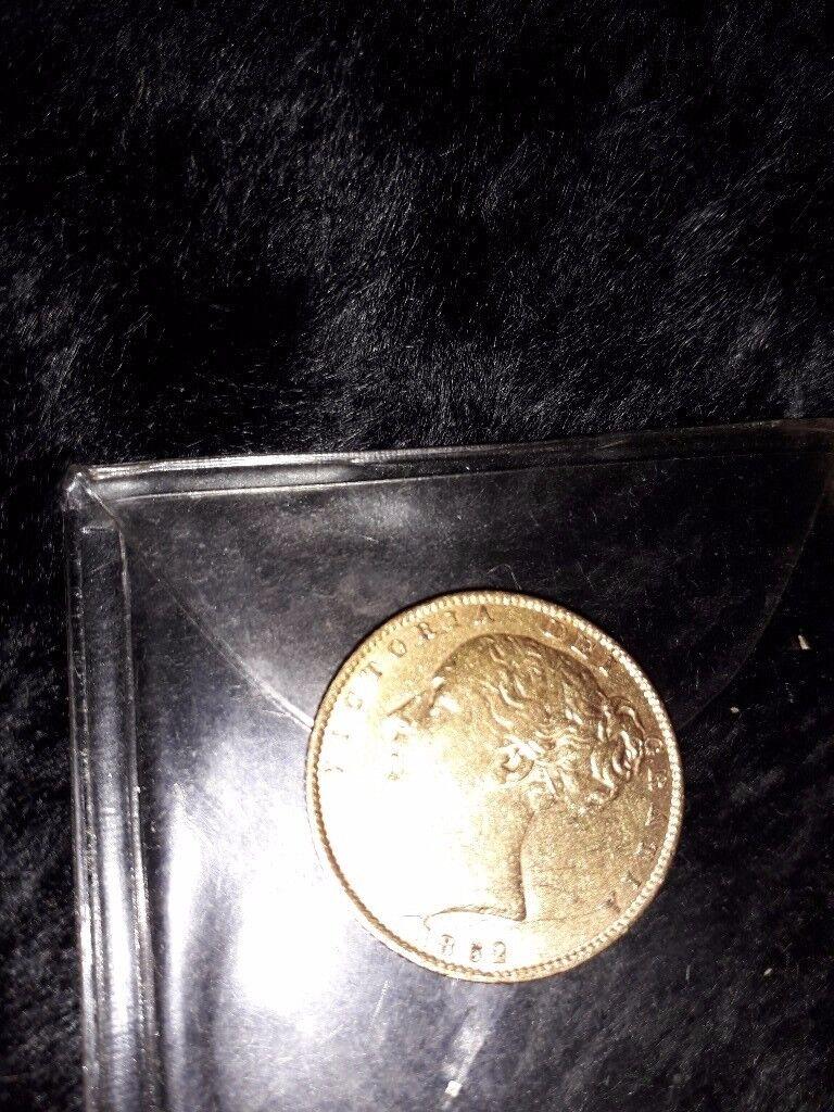 FULL SOVEREIGN GOLD COIN 1862