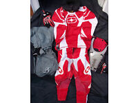 Age 7 - 12 Childs Motocross No Fear etc Top & Protective Trousers, Gloves, Body Armour, Waterproofs