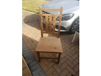 4 old wooden chairs for upcycling/furniture project