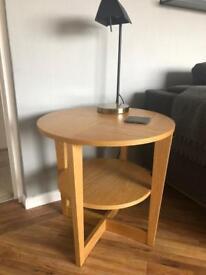 Two Oak Veneer side tables - VEJMON IKEA