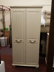 bensons for beds fairmont 2 door wardrobe in antique soft cream (cost £649 retail not that long ago)