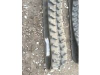 Pair of brand new rubber tracks for mini digger