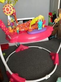 Fisher Price jumperoo in Pink Petals in immaculate condition. Like new.