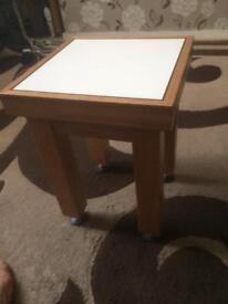 2 Small oak side tables
